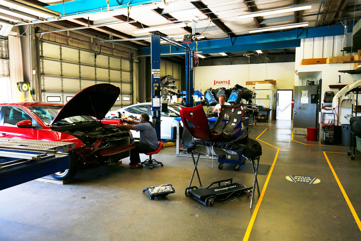 collision repair shop