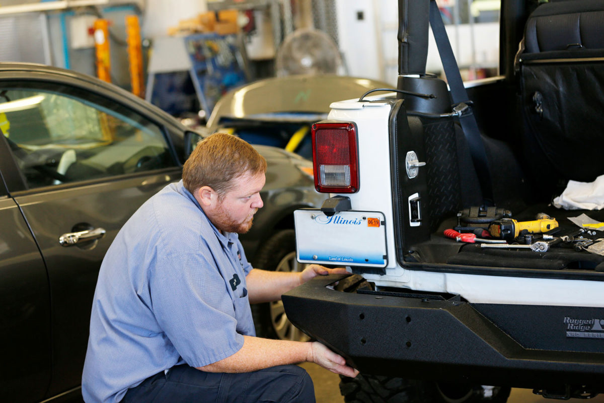 replacing jeep bumper